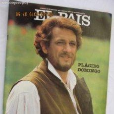 Coleccionismo de Periódico El País: EL PAÍS SEMANAL REVISTA Nº 318 MAYO 1983 - PLÁCIDO DOMINGO. . Lote 166535382