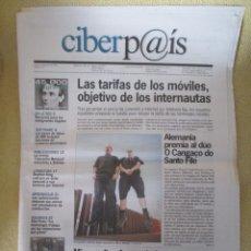 Coleccionismo de Periódico El País: CIBERPAIS Nº 121 2000. Lote 169753308