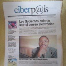 Coleccionismo de Periódico El País: CIBERPAIS Nº 125 2000. Lote 169754160