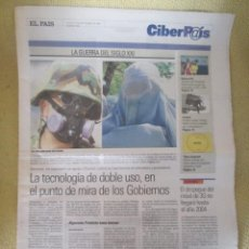 Coleccionismo de Periódico El País: CIBERPAIS Nº 186 2001. Lote 169755804