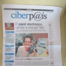 Coleccionismo de Periódico El País: CIBERPAIS Nº 67 1999. Lote 169812992