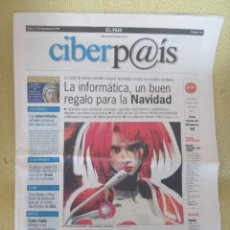Coleccionismo de Periódico El País: CIBERPAIS Nº 41 1998. Lote 169910968