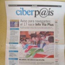 Coleccionismo de Periódico El País: CIBERPAIS Nº 45 1999. Lote 169911480