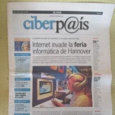 Coleccionismo de Periódico El País: CIBERPAIS Nº 3 1998. Lote 169912340