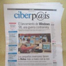 Coleccionismo de Periódico El País: CIBERPAIS Nº 12 1998. Lote 169914748