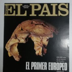 Coleccionismo de Periódico El País: EL PAÍS SEMANAL - NÚMERO 236 - 27 DE AGOSTO DE 1995 - EL PRIMER EUROPEO. Lote 177810064