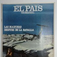 Coleccionismo de Periódico El País: EL PAÍS SEMANAL - NÚMERO 277 - 1 DE AGOSTO DE 1982 -LAS MALVINAS DESPUÉS DE LA BATALLA. Lote 177810188