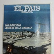 Coleccionismo de Periódico El País: EL PAÍS SEMANAL - NÚMERO 277 - 1 DE AGOSTO DE 1982 - LAS MALVINAS DESPUÉS DE LA BATALLA. Lote 177810210