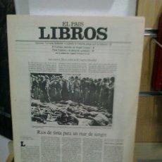 Coleccionismo de Periódico El País: LMV- EL PAIS LIBROS, NUM. 290 - 12 MAYO 1985. LOS NUEVOS LIBROS SOBRE LA II GUERRA MUNDIAL. Lote 178643190