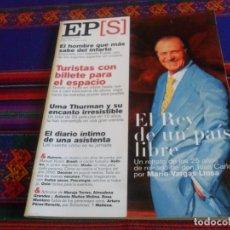 Coleccionismo de Periódico El País: EL PAÍS SEMANAL Nº 1260. 19-11-2000. REY JUAN CARLOS I VALENTÍN FUSTER UMA THURMAN BRASIL ROTHKO.. Lote 178744361