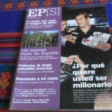 Coleccionismo de Periódico El País: EL PAÍS SEMANAL Nº 1264. 17-12-2000. ¿QUIERE SER MILLONARIO? CARLOS SOBERA LENI RIEFENSTAHL HITLER.. Lote 178744507