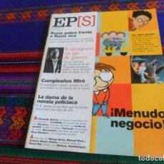 Coleccionismo de Periódico El País: EL PAÍS SEMANAL Nº 1273 18-2-01. HARRY POTTER BRIGADAS INTERNACIONALES DIVISIÓN AZUL FERNANDO ALONSO. Lote 178744778
