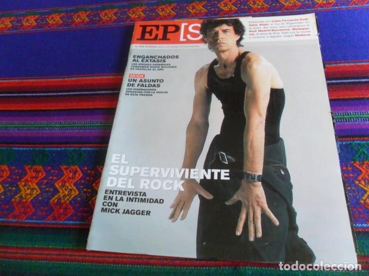 EL PAÍS SEMANAL Nº 1310. 4-11-01. MICK JAGGER ROLLING STONES REAL MADRID F.C. BARCELONA ZAHIR SHAH. (Coleccionismo - Revistas y Periódicos Modernos (a partir de 1.940) - Periódico El Páis)