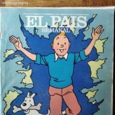 Coleccionismo de Periódico El País: EL PAIS SEMANAL Nº 611 DE 1988- TINTIN- KASPAROV Y KARPOV- BIDASOA- ELS COMEDIANTS- SANCHIS- TOMEO J. Lote 179175015