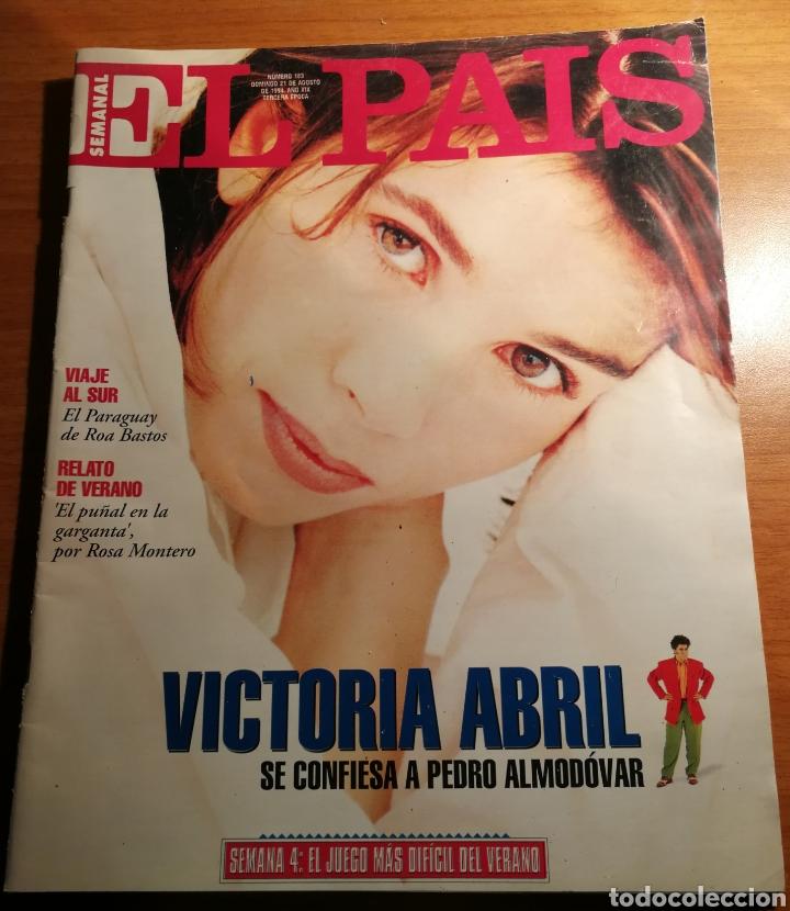 EL PAIS 183. VICTORIA ABRIL (Coleccionismo - Revistas y Periódicos Modernos (a partir de 1.940) - Periódico El Páis)
