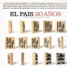 Coleccionismo de Periódico El País: EL PAÍS 20 AÑOS - Nº 1023 - 5 MAYO 1996 - NÚMERO EXTRA.. Lote 182888027