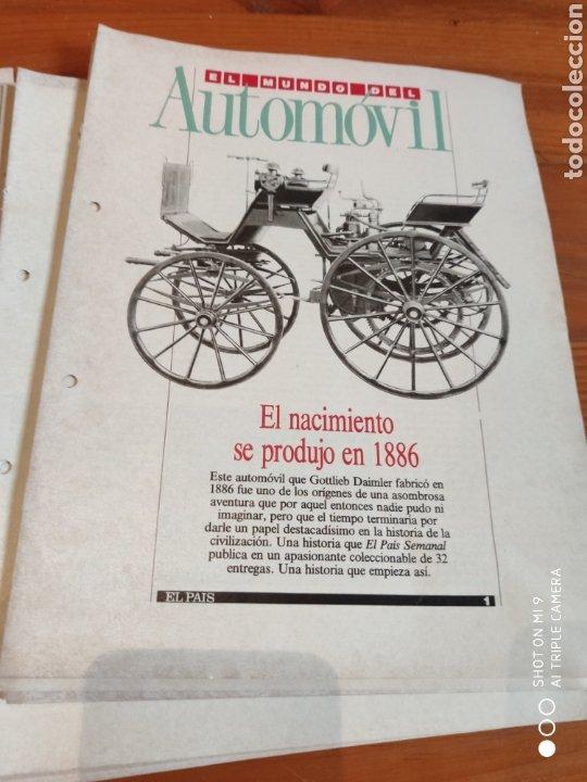 EL MUNDO DEL AUTOMÓVIL. EL PAÍS (Coleccionismo - Revistas y Periódicos Modernos (a partir de 1.940) - Periódico El Páis)