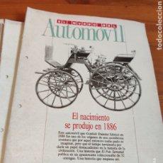 Coleccionismo de Periódico El País: EL MUNDO DEL AUTOMÓVIL. EL PAÍS. Lote 184186362
