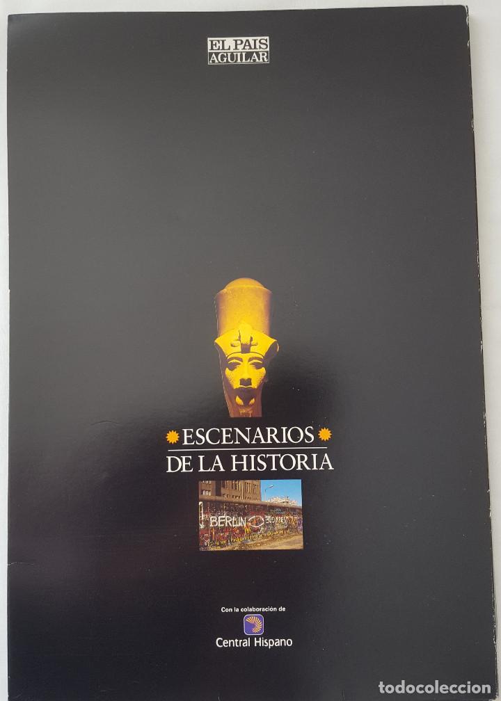 Coleccionismo de Periódico El País: ESCENARIOS DE LA HISTORIA. EL PAÍS AGUILAR. COMPLETO - Foto 2 - 184575225