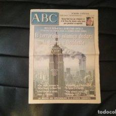 Coleccionismo de Periódico El País: RARO ABC EDICION DEL DIA 11 SEPTIEMBRE 2001, EDICIÓN ESPECIAL TARDE + EDICIÓN DEL 11S DE EL PAÍS. Lote 39980583