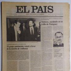 Coleccionismo de Periódico El País: DIARIO EL PAÍS - 18 SEPTIEMBRE 1980 - NÚMERO 1360 - EL GRUPO ANDALUCISTA VOTARÁ A A FAVOR DE MOCIÓN. Lote 186299516