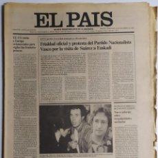 Coleccionismo de Periódico El País: DIARIO EL PAÍS - 10 DICIEMBRE 1980 - NÚMERO 1431 - FRIALDAD OFICIAL, PROTESTA PNV, VISITA SUÁREZ. Lote 186301237