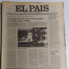 Coleccionismo de Periódico El País: DIARIO EL PAÍS - 31 MAYO 1980 - NÚMERO 1266 - EL GOBIERNO SUPERO LA MOCIÓN DE CENSURA SOCIALISTA. Lote 186301976