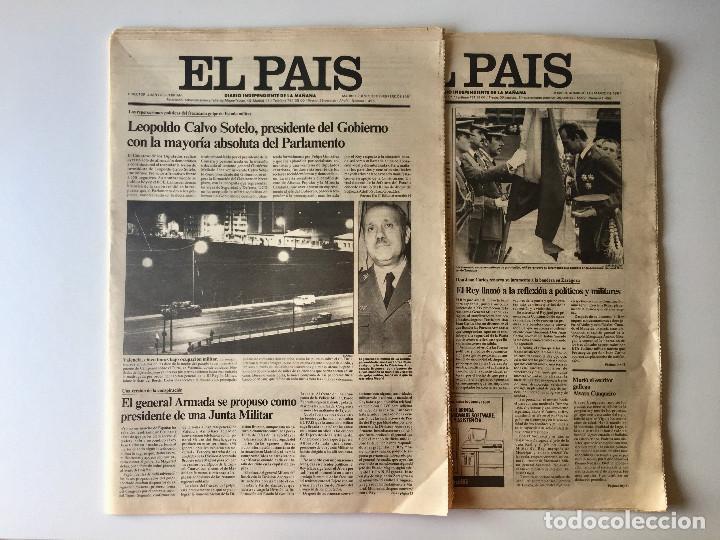 LOTE 2 PERIÓDICOS EL PAÍS - TRAS EL GOLPE DE ESTADO 23F TEJERO ESPAÑA - 26 FEB Y 1 DE MAR 1981 (Coleccionismo - Revistas y Periódicos Modernos (a partir de 1.940) - Periódico El Páis)