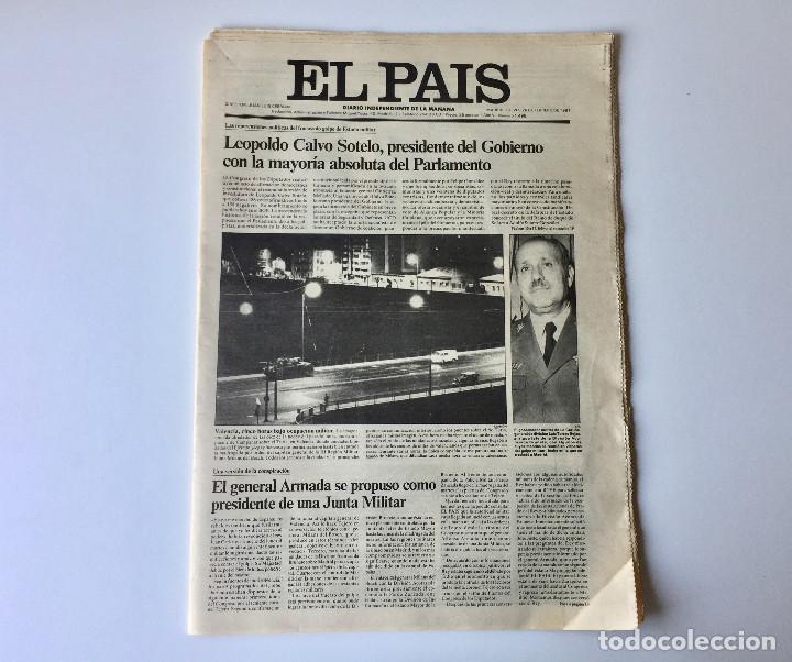 Coleccionismo de Periódico El País: LOTE 2 PERIÓDICOS EL PAÍS - TRAS EL GOLPE DE ESTADO 23F TEJERO ESPAÑA - 26 FEB Y 1 DE MAR 1981 - Foto 3 - 186446012