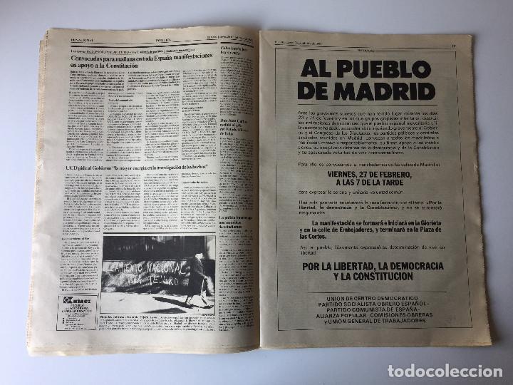 Coleccionismo de Periódico El País: LOTE 2 PERIÓDICOS EL PAÍS - TRAS EL GOLPE DE ESTADO 23F TEJERO ESPAÑA - 26 FEB Y 1 DE MAR 1981 - Foto 6 - 186446012