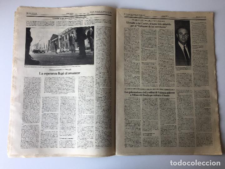Coleccionismo de Periódico El País: LOTE 2 PERIÓDICOS EL PAÍS - TRAS EL GOLPE DE ESTADO 23F TEJERO ESPAÑA - 26 FEB Y 1 DE MAR 1981 - Foto 7 - 186446012