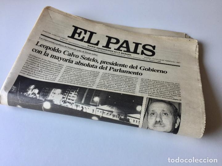 Coleccionismo de Periódico El País: LOTE 2 PERIÓDICOS EL PAÍS - TRAS EL GOLPE DE ESTADO 23F TEJERO ESPAÑA - 26 FEB Y 1 DE MAR 1981 - Foto 9 - 186446012