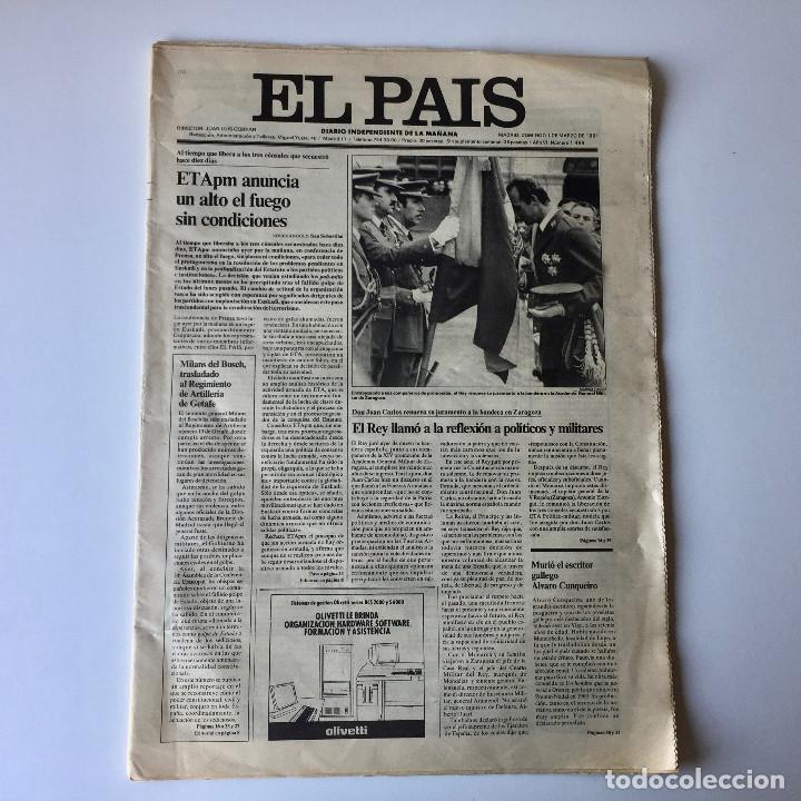 Coleccionismo de Periódico El País: LOTE 2 PERIÓDICOS EL PAÍS - TRAS EL GOLPE DE ESTADO 23F TEJERO ESPAÑA - 26 FEB Y 1 DE MAR 1981 - Foto 10 - 186446012