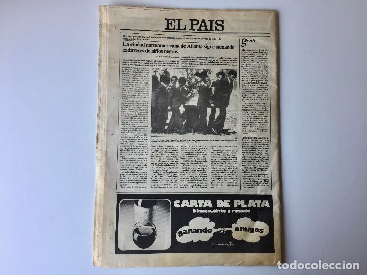 Coleccionismo de Periódico El País: LOTE 2 PERIÓDICOS EL PAÍS - TRAS EL GOLPE DE ESTADO 23F TEJERO ESPAÑA - 26 FEB Y 1 DE MAR 1981 - Foto 11 - 186446012