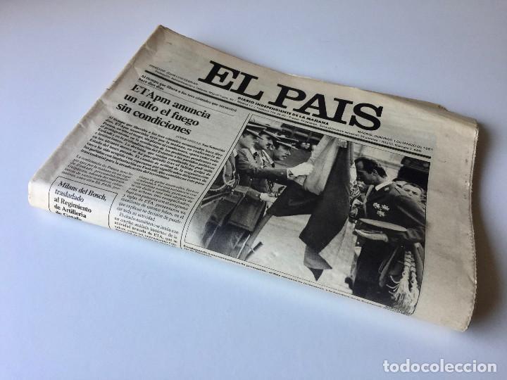 Coleccionismo de Periódico El País: LOTE 2 PERIÓDICOS EL PAÍS - TRAS EL GOLPE DE ESTADO 23F TEJERO ESPAÑA - 26 FEB Y 1 DE MAR 1981 - Foto 13 - 186446012