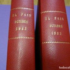 Coleccionismo de Periódico El País: EL PAIS. DIARIO. OCTUBRE 1983. 2 TOMOS. Lote 188502655