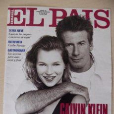 Collectionnisme de Journal El País: RECORTE EL PAIS SEMANAL 3ª ÉPOCA 196 (20-11-1994): PORTADA KATE MOSS Y CALVIN KLEIN -CLIPPING. Lote 191431780