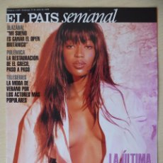 Coleccionismo de Periódico El País: RECORTE EL PAIS SEMANAL 1189 (11-07-1999): PORTADA NAOMI CAMPBELL + REPORTAJES FOTOGRÁFICOS. Lote 191431813