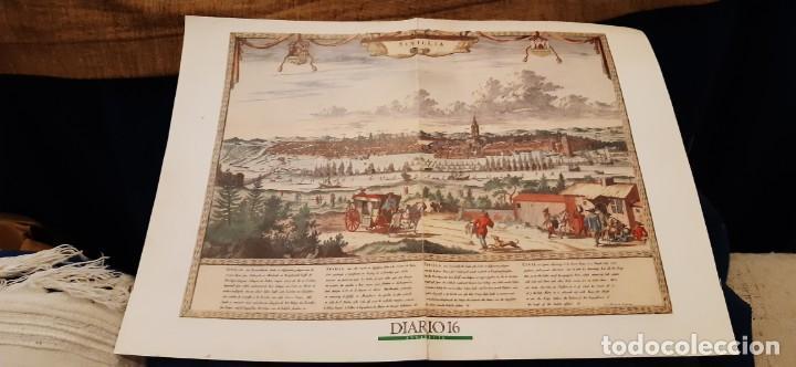 DIARIO 16 LÁMINA SEVILLA HISTÓRICA GRABADO FACSIMIL (Coleccionismo - Revistas y Periódicos Modernos (a partir de 1.940) - Periódico El Páis)