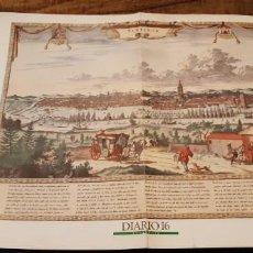 Coleccionismo de Periódico El País: DIARIO 16 LÁMINA SEVILLA HISTÓRICA GRABADO FACSIMIL. Lote 191996196