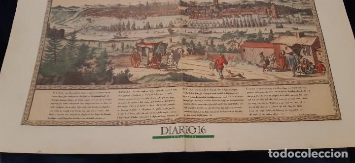 Coleccionismo de Periódico El País: DIARIO 16 LÁMINA SEVILLA HISTÓRICA GRABADO FACSIMIL - Foto 4 - 191996196