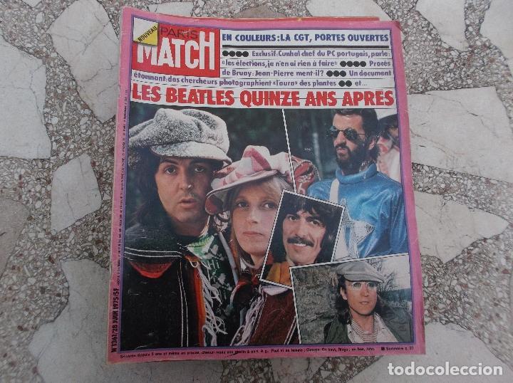 PARIS MATCH Nº 1361,JUIN 1975,LES THE BEATLES QUINZE ANS APRES,,7 PAGINAS 46 FOTOS ,REVISTA ENTERA (Coleccionismo - Revistas y Periódicos Modernos (a partir de 1.940) - Periódico El Páis)