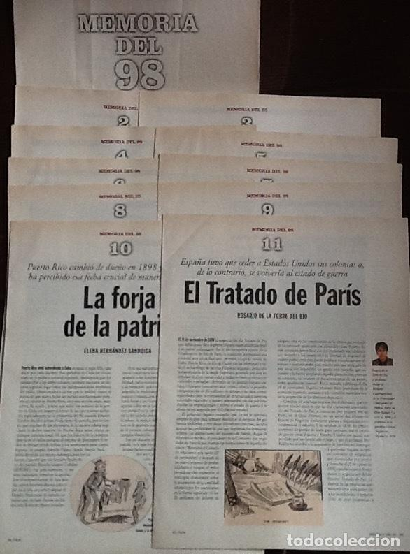 MEMORIA DEL 98. COLECCIONABLE DE EL PAÍS. CUADERNOS 1 AL 11 (Coleccionismo - Revistas y Periódicos Modernos (a partir de 1.940) - Periódico El Páis)
