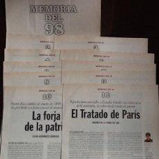 Coleccionismo de Periódico El País: MEMORIA DEL 98. COLECCIONABLE DE EL PAÍS. CUADERNOS 1 AL 11. Lote 193404150