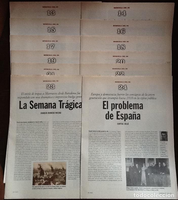 MEMORIA DEL 98. COLECCIONABLE DE EL PAÍS. CUADERNOS 13 AL 24 (Coleccionismo - Revistas y Periódicos Modernos (a partir de 1.940) - Periódico El Páis)