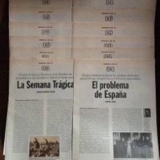 Coleccionismo de Periódico El País: MEMORIA DEL 98. COLECCIONABLE DE EL PAÍS. CUADERNOS 13 AL 24. Lote 193404338