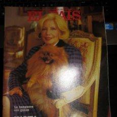 Coleccionismo de Periódico El País: EL PAIS SEMANAL 470 1986 MARITA VILLALONGA HOMBRES G LOS BOLONIOS. Lote 195353675