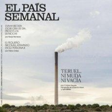 Coleccionismo de Periódico El País: REVISTA EL PAIS SEMANAL 2255. TERUEL NI MUDA NI VACIA - EMMA BECKER: ESCRITORA DIA, PROSTITUTA NOCHE. Lote 195441322