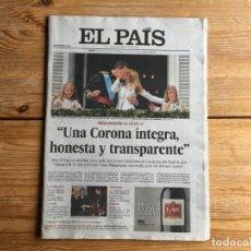 Coleccionismo de Periódico El País: PERIÓDICO EL PAÍS NÚMERO 13502 20 JUNIO 2014 FELIPE VI. Lote 198508038