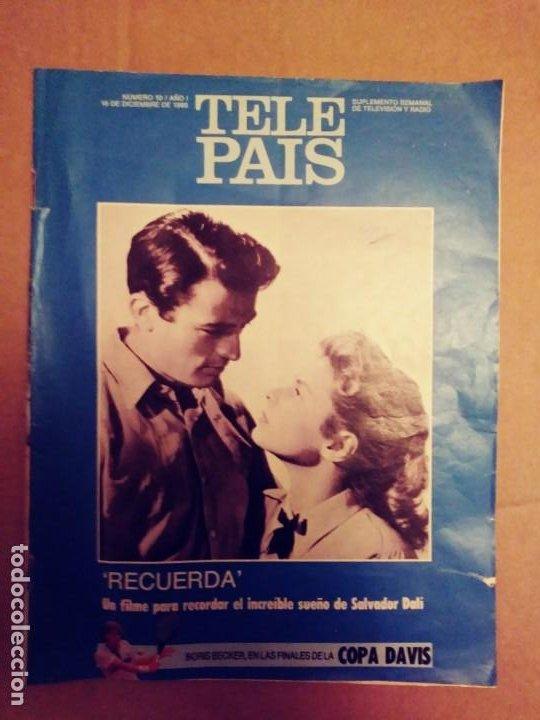 TELE PAIS: N:10/AÑO 1.16 DE DICIEMBRE DE 1988.SUPLEMENTO SEMANAL. TV & RADIO. (Coleccionismo - Revistas y Periódicos Modernos (a partir de 1.940) - Periódico El Páis)
